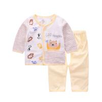 童泰2017年新款纯棉新生儿内衣裤子男女宝宝衣服婴儿对开内衣套装
