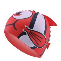 儿童泳帽男童女童帽卡通动物鱼形硅胶帽防水护耳游泳