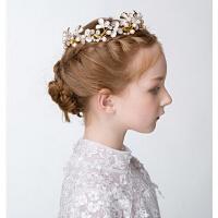 新年时尚儿童头饰 新娘花童发饰女童 礼服演出配饰珍珠头饰