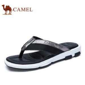 camel骆驼男鞋 2017夏季新品 沙滩人字拖鞋男士透气夏季夹脚拖鞋