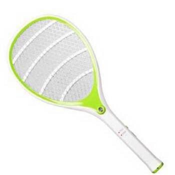 雅格电蚊拍 充电式 带led灯 安全灭苍蝇拍 环保5614