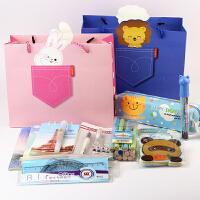 六一礼物 可爱学生文具套装礼盒礼包 8件套小学生文具生日大礼包