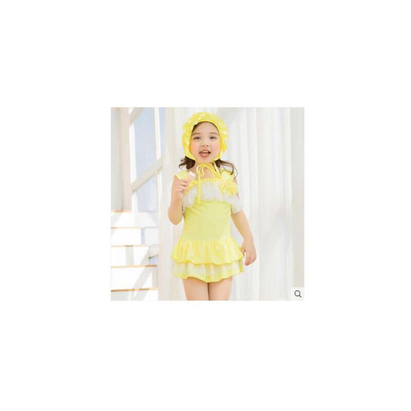 儿童连体泳衣女童韩国中小童宝宝泳装可爱公主
