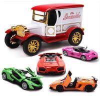 美致合金车模型1 32仿真回力古典老爷车兰博基尼儿童玩具汽车模型