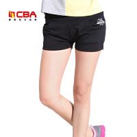 【618狂嗨继续】CBA女子运动短裤夏季女款修身透气针织短裤休闲裤沙滩裤热裤