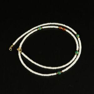 【只有一个】珍珠翡翠珠项链
