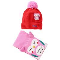 儿童帽子宝宝帽子围巾两件套小孩围脖套装保暖毛线针织帽