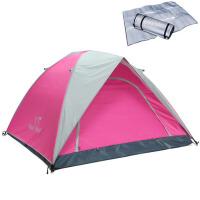 户外家庭3-4人帐篷双层旅行露营野外2人帐篷套装