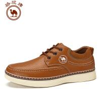 骆驼牌 男鞋新品低帮正装皮鞋系带鞋子日常休闲舒适男士鞋圆头