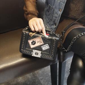 芭特莉2017新款女包菱格链条包秋冬时尚单肩斜挎包手提包韩版小香风包包
