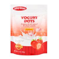 【当当自营】JelleyBrown 美国原装进口草莓味酸乳溶豆28g(团购电话:010-57992568)