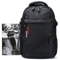 SWISSGEAR瑞士军刀双肩包 男女15.6英寸商务笔记本电脑背包 大容量户外旅行包
