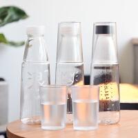 夏季水杯 可爱字母塑料杯子 韩版学生创意便携带盖防漏随手杯