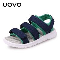 UOVO2017新款夏季儿童凉鞋男童凉鞋儿童沙滩鞋魔术贴童凉鞋 贝加尔