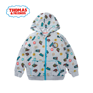 【秒】托马斯童装男童秋装拉链卫衣开衫童趣印花纯棉外套