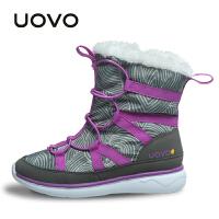 【满200减100】UOVO2017新款女童靴子冬季儿童冬靴雪地靴棉靴时尚潮流短靴中大童 多伦多