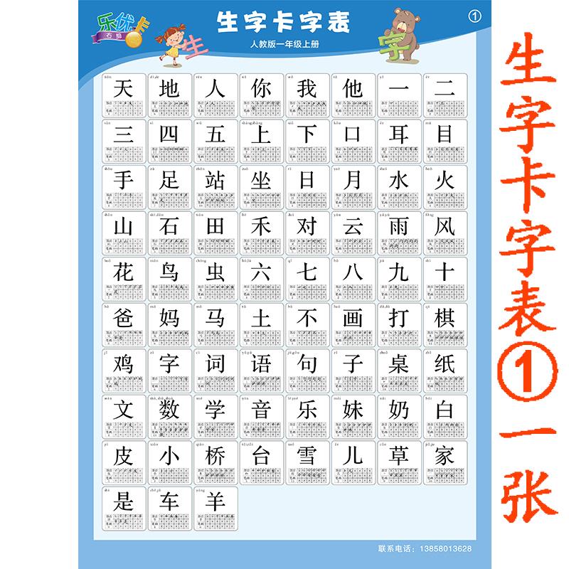 数字1-100无声学习挂图数学幼儿园儿童学前班一年级小学生墙贴画_生字