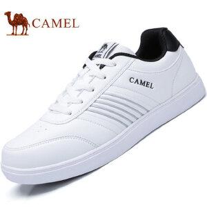camel骆驼男鞋 2017春季新品 运动休闲系带板鞋男街头时尚滑板鞋