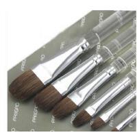 凡高狼毫浮生若梦水粉/水彩笔透明杆套装 油画丙烯画笔 6支装
