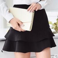 裙子女 新款韩版修身百搭女装半身裙鱼尾裙包臀裙子女荷叶边裙