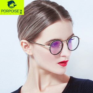 海豚2017圆形复古近视圆脸框架眼镜女韩版潮度数圆框眼镜框女学生