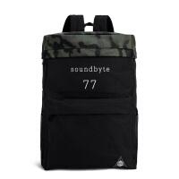 【支持礼品卡支付】soundbyte男女帆布背包学院风书包大容量迷彩背包旅行电脑双肩包21110A