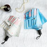 包邮 17年新款 可妮兔三折卡通黑胶防晒防紫外线太阳伞女士晴雨两用创意折叠伞