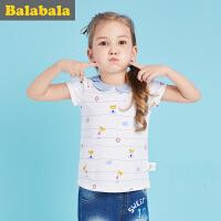 巴拉巴拉儿童短袖T恤女小童宝宝衣服2017夏装童装女童打底衫半袖