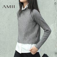 【AMII超级大牌日】[极简主义]2016冬新品简约纯色百搭高领混纺长袖毛衣11633633