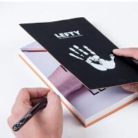 卡杰左手用品左撇子记事本创意文具笔记本手帐商务日记本子可定制