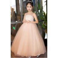 儿童礼服公主裙 婚纱蓬蓬裙长款花童裙儿童礼服主持人走秀演出服