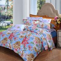[当当自营]富安娜家纺 艺术家纺床单四件套 磨毛加厚保暖冬季被套床上用品 灿烂人生1.8米(6英尺)床