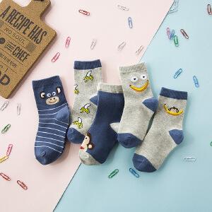 春夏季新款韩国可爱卡通儿童袜春袜子纯棉中筒学生袜透气棉袜