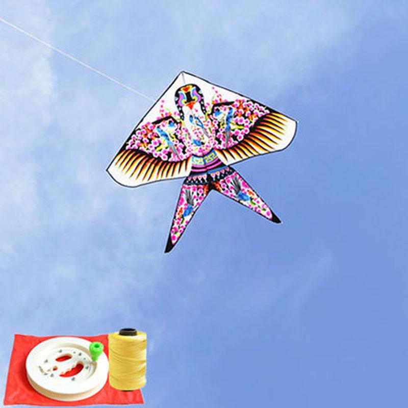 儿童风筝潍坊沙燕风筝三角燕子风筝微风易飞传统风筝线轮