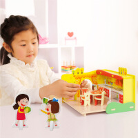 木丸子儿童木制益智玩具过家家厨房玩具宝宝厨具餐具套装