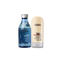 L'OREAL/欧莱雅 头皮舒缓洗发水250ml+深层修护护发素150ml 专业洗护套装 舒缓头皮 秀发柔顺