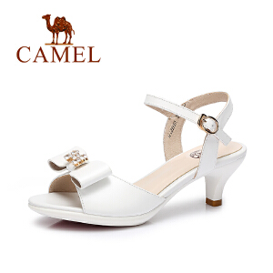 camel骆驼女鞋 2017夏季新款 优雅时尚女士细跟凉鞋 高跟鞋女