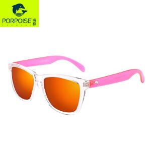 新款海豚偏光太阳镜女透明框炫彩镀膜太阳镜潮驾驶墨镜PP3181
