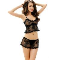诱惑情趣内衣性感可爱少女透明内衣文胸套装三点装性感薄款
