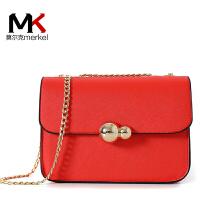 莫尔克(MERKEL)2017新款女包链条包欧美复古圆珠链条小方包手提包单肩斜挎迷你小包包