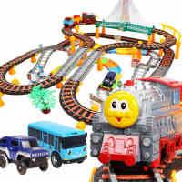 托马斯小火车汽车套装电动拖马斯火车玩具轨道车过山车男孩子