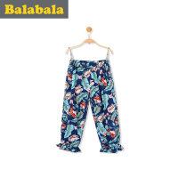 巴拉巴拉女童短裤中大童裤子2017夏装新款童装七分裤儿童中裤