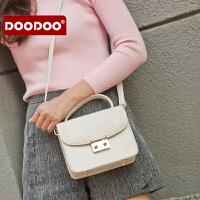 【支持礼品卡】DOODOO 包包2017新款百搭手提单肩小方包斜挎包迷你个性女包韩版潮 D6200