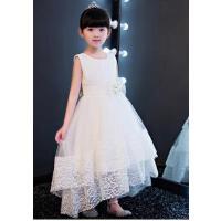儿童礼服女拖尾裙女童礼服钢琴演出服婚纱长裙花童蓬蓬裙