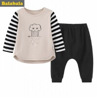 巴拉巴拉男婴儿长袖套装小宝宝两件套长袖新生儿衣服裤子秋新款