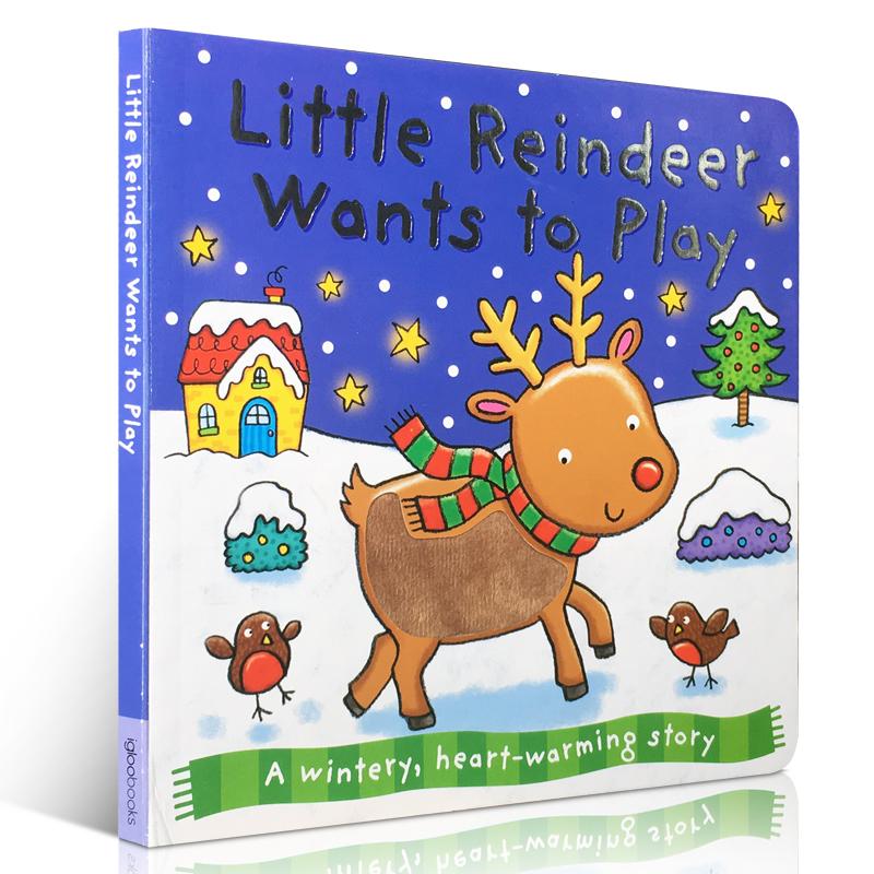 merry christmas圣诞节快乐 幼儿启蒙英文原版亲子读物 趣味图画书