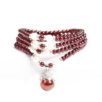 芭法娜 珠光宝气 天然石榴石多圈手链配天然淡水珍珠
