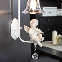 御目 壁灯 欧美书房床头led创意水晶欧式现代简约客厅过道卧室美式儿童灯具 创意灯具