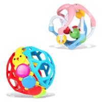 宝丽 Baoli 宝宝学爬玩具0-1岁6个月转转球婴幼儿12个月手抓球