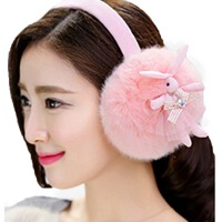 冬季卡通女士耳包冬天可爱护耳罩耳套毛绒纯色保暖耳暖